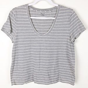 🌵Madewell S/S Striped V-neck Tee sz M